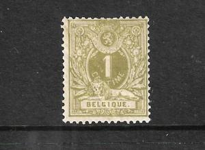 BELGIUM 1884 1c OLIVE GREEN MLH SG67