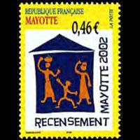MAYOTTE 2002 - Scott# 179 Census Set of 1 NH