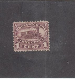 NEW BRUNSWICK (MK4603)  # 6 VF-MNG 1cts  LOCOMOTIVE /RED-LILAC /1860 CAT VAL $60