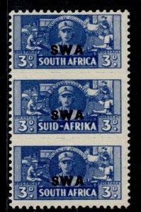 SOUTH WEST AFRICA GVI SG127, 3d blue, M MINT.