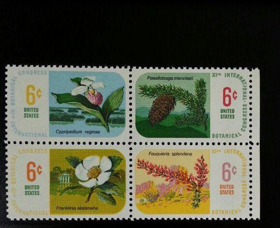 1969 6c International Botanical Congress, Block of 4 Scott 1376-79 Mint F/VF NH