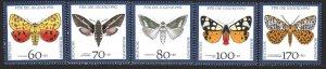 Germany. 1991. 1602-6. Butterflies. MNH.