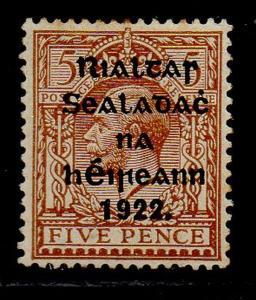 Ireland Sc 30 1922  5 d G V stamp overprinted mint