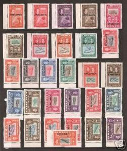 Liberia Sc 332/C69 MNH. 1952 29 TCP-s w/ Specimen ovpt