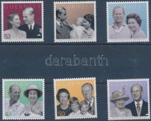 Great Britain - Guernsey stamp 60th wedding anniversary of the royal WS170011