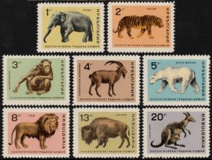 ✔️ BULGARIA 1966 - FAUNA WILD ANIMALS - MI. 1618/1625 ** MNH OG  [BG1.1618]