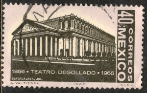 MEXICO 979, Cent of Degollado Theater in Guadalajara Used. VF. (579)