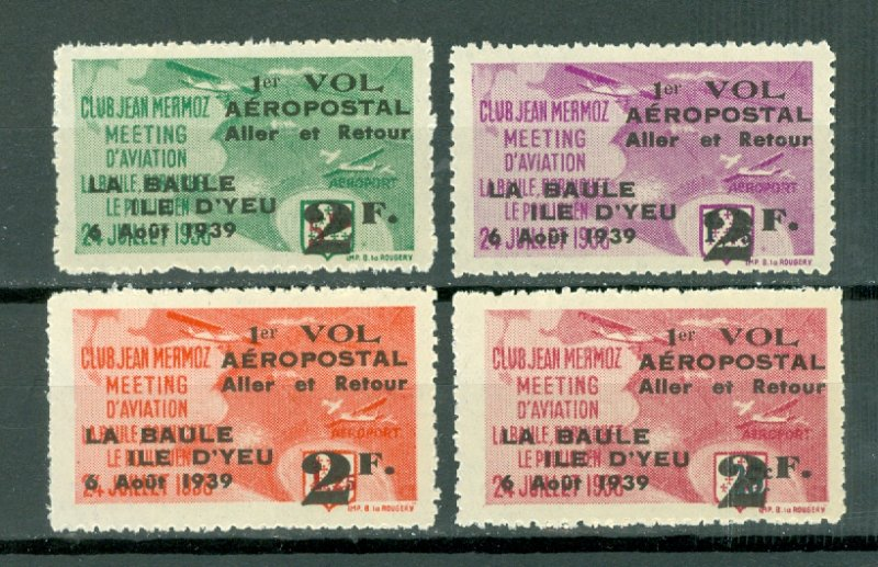 FRANCE AIR CINDERRELLAS MERMOZ 1939 CLUB OVPT...MNH..