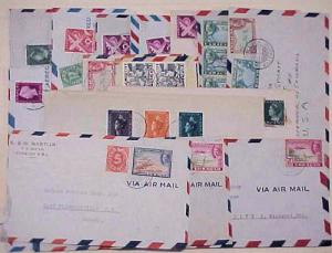 CURACAO WILLIAMSTED 15 SMALL COVERS MOSTLY TO USA INCLUDES REGISTERED