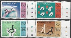 Barbuda 502-5  MNH  Year of Disabled
