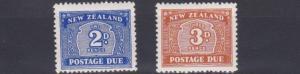 NEW ZEALAND  1946     S G  D46 - D47   VALUES TO 3D    MH  TONED GUM