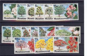 Montserrat, 340-54, Flowering Trees Singles, **MNH**