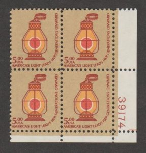 U.S. Scott #1612 Lantern Stamp - Mint NH Plate Block