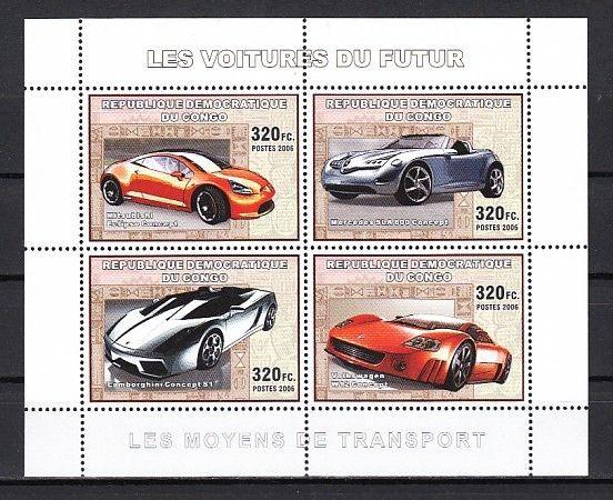 Congo, Dem., 2006 issue. Sport Cars sheet of 4.