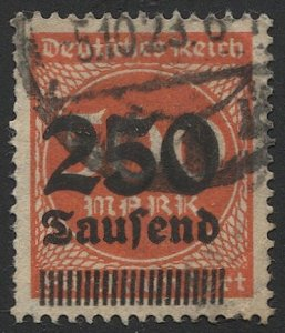 GERMANY 1923 Sc 260 Inflation 250th / 500m, Used, VF