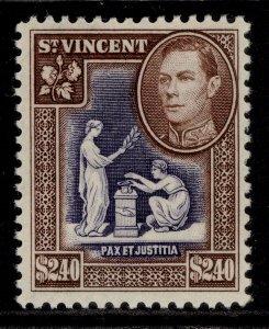 ST. VINCENT GVI SG176, $2.40 violet & brown, M MINT.