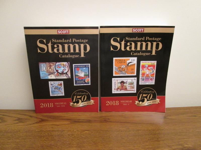 Scott 2018 Stamp Catalog Volume 6 A and B (photos of actual books for sale)