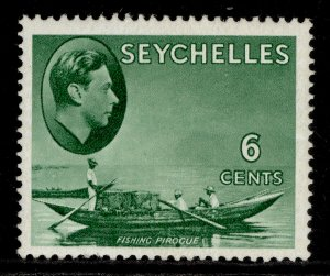 SEYCHELLES GVI SG137b, 6c green, M MINT. ORDINARY PAPER