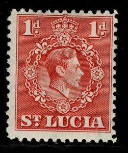 ST. LUCIA GVI SG129b, 1d scarlet, M MINT.