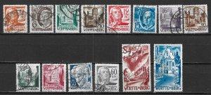 Germany (Wurttemberg) 8N14-8N27 Occupation Stamps set Used