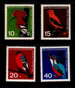 Germany Sc B388-91 1963 Birds stamp set mint NH