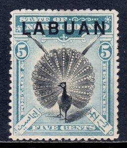 Labuan - Scott #77 - MH - Thin - SCV $27
