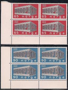 Norway 533-534 MNH Block of 4 - Europa - Please Read Description