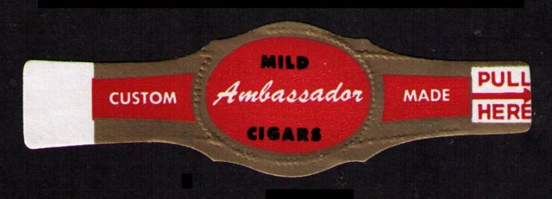 AMBASSADOR, OLD CIGAR BAND UNUSED, CINDERELLA SEE SCAN (V748)