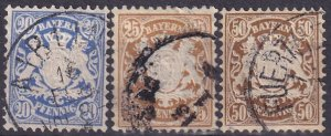 Bavaria #51-3 F-VF Used CV $7.55 (Z3997)