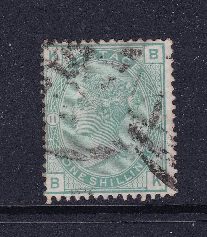 Great Britain a 1/- QV plate 11 used