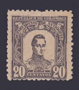 STAMPS FROM COLOMBIA ANTIOQUIA 1899. SCOTT # 124. UNUSED