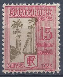 Guadeloupe - SC# J29 - MH - SCV$0.30