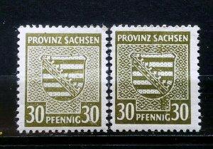 Germany Provinz Sachsen Mi 83Y a+b **