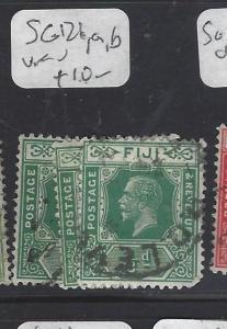 FIJI ISLANDS (P2311B)  KGV  1/2D  SG 126, 126A, 126B  VFU