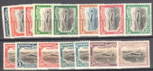 #C1 to15 MINT Hinge – 1935 Mozambique stamps, air mail