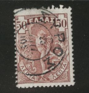 Greece Scott 174 used 1901 Hermes stamp