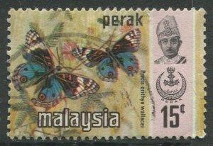STAMP STATION PERTH Perak #151 Sultan Idris Shah Butterflies Used 1971