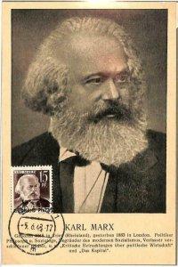 90102 - GERMANY Rheinland-Pfalz -  MAXIMUM CARD -  Politics KARL MARX Communism
