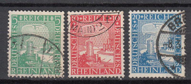Germany - 1925 Union of the Rhineland with Germany Sc# 347/349 (9709)