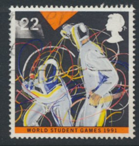 Great Britain  SG 1564  SC# 1378  Fencing Sport   Used see detail and scan