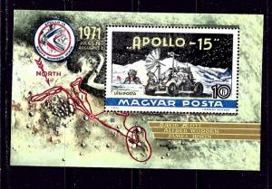 Hungary C315 MNH 1972 Apollo 15 S/S