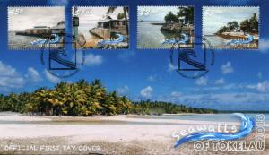 Tokelau 2018 FDC Seawalls 4v Set Cover Tourism Landscapes Palm Trees Stamps