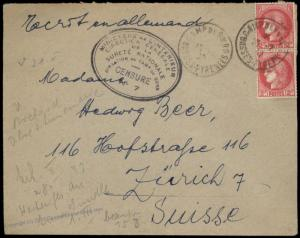 3rd Reich Germany France KL Concentration Camp de Gurs Censor 7 Cover 85789