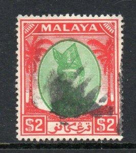 Malaya Trengganu 1949 KGVI $1 Sg 86 D'Occasion Cv