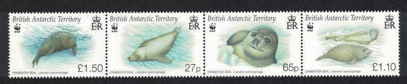 BAT WWF Crabeater Seal Strip of 4v SG#506-509 MI#505-508 SC#505-508