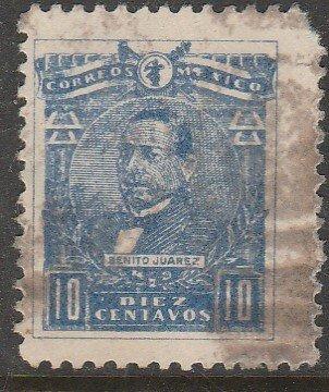 MEXICO 511a, 10¢ BENITO JUAREZ, PLATE VARIETY USED.F-VF.  (1251)