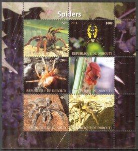 Djibouti 2011 Spiders MNH Cinderella !