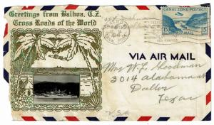 Canal Zone 1941 Airmail Cover, Front Only - Z407