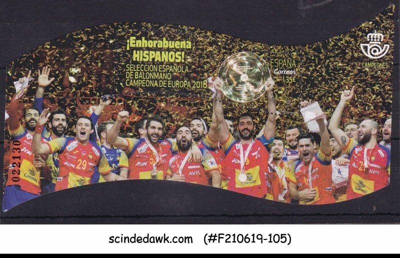 SPAIN - 2018 EUROPEAN HANDBALL CHAMPIONS - MIN. SHEET - MNH