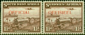 South West Africa 1938 1 1/2d Purple-Brown SG017 V.F Very Lightly Mtd Mint